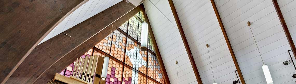 Harcourt Sanctuary ceiling