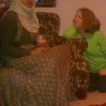 Mom hosts a visit.